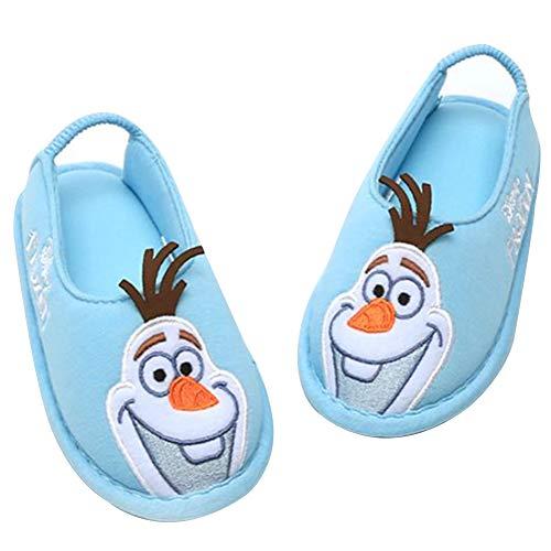 [アナと雪の女王] [ディズニー] Frozen オラフ 男の子 女の子 子供用 室内履き キッズ スリッパ ルームシューズ (15.0 cm, オラフ_ブルー) [並行輸入品]