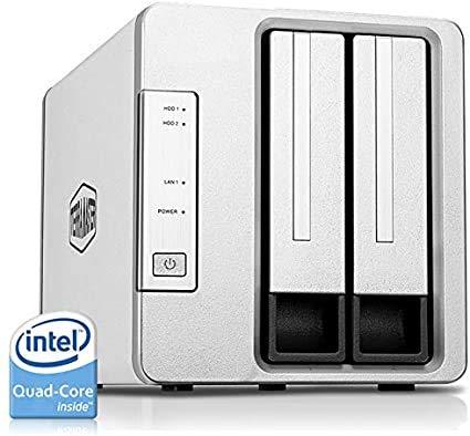 TerraMaster F2-422 10GbE NAS 2-Bay Netzwerkspeicher-Server Intel Quad-Core-CPU mit Hardware-Verschlüsselung (Ohne Festplatte)