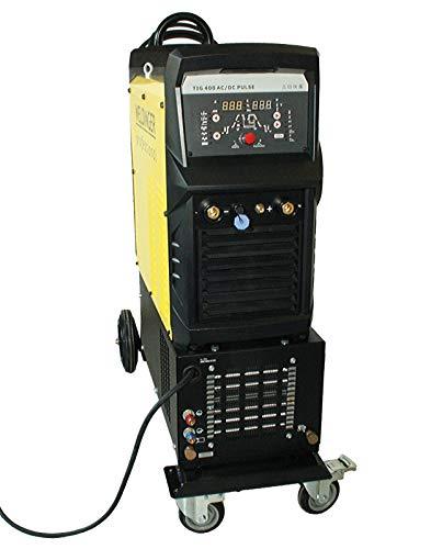 WELDINGER WIG-Schweißinverter WE 400P AC/DC pro wassergekühlt mit Schweißwagen