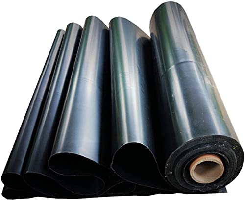 Geyao Vijverfolie HDPE, zwart – Snijd 2 x 2 m, 3 x 3 m, 3 x 5 m, 4 x 7 m, 5 x 7 m, 8 x 12 m (Size : 39 ft x 39 ft/12 x 12 m)