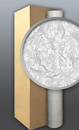 EDEM 317-60 1 Kart 4 Rollen Dekorative Struktur Wand Vlies-Tapete überstreichbar weiß 106 qm