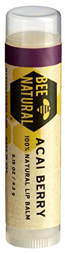 Bee Natural Lippenbalsam Acai Beere, 4er Pack (4 x 4 g)