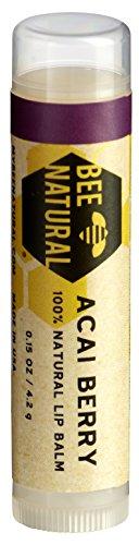 Bee Natural Lippenbalsam Acai Beere, 4er Pack (4 x 4,2 g)