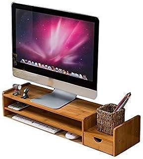 KANJJ-YU Moniteur PC portable Support universel Rack, clavier simple et moderne en bois de stockage Bureau rack bureau Sup...