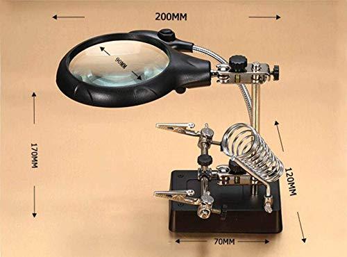 HXHBD Lupa boutique lupa portátil/luz LED/ayudando a la mano secundaria de sujeción clip de reparación/mantenimiento relojes, componentes electrónicos/Código de producto: WW-1116