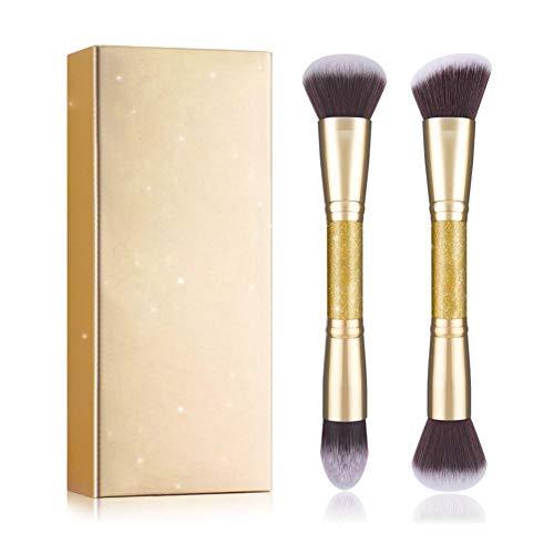 JooDon 2pcs Maquillage brosses Poudre Base Tampon et Outils de synthèse cosmétiques cosmétiques Contour