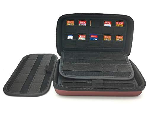 Kartuschenhalter für Nintendo Switch Sony Ps Vita Spiele oder SD-Speicherkarten, 100 Stück Schokolade, 100 Slots für NS, Vita, Speicherkarte 7.4*4.9*2.1 inch