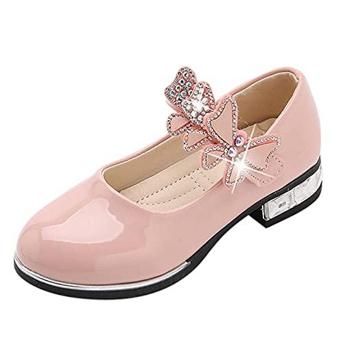 YWLINK Zapatos Para NiñOs,NiñAs Flores Dulces Zapatos PequeñOs Zapatos Solos Zapatos Frescos Zapatos De Princesa Zapatos De Baile,Zapatos De Cuero,Zapatos De Rendimiento Con Suela Blanda,Incli