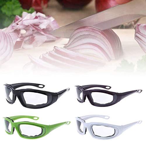 Gaocheng Grill Schutzbrille 2 Stück Küchenzubehör Schnittgemüse Zwiebel Pfeffer Pfeffer Ingwer Knoblauchbrille Augenschutz Küche Kochutensilien (Weiß) White