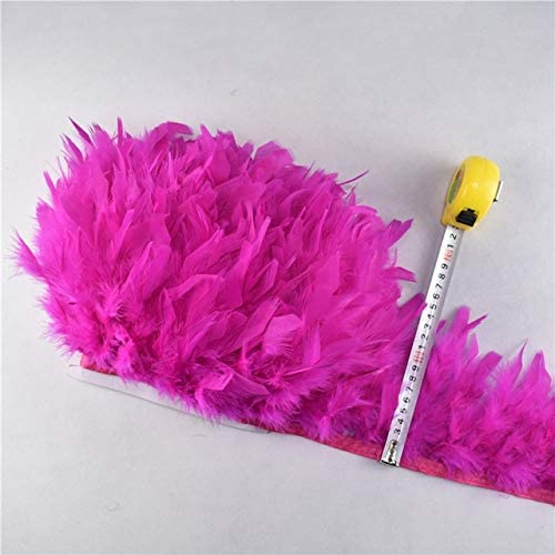 VIGOAT 10Meter Lot Fluffy Turkey Fe Denver Mall Feathers Special price 4-6Inch Ribbon Trim