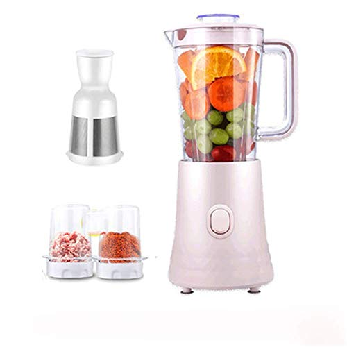LKOER Exprimidor de masticación, Extractor de Jugo de Prensa en frío, Fruta doméstica pequeña Fruta automática y Vegetales multifunción jugu jinyang (Color : Pink)