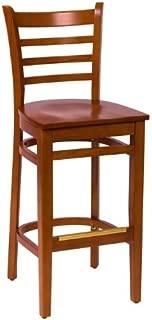 BFM Burlington Ladder Back Barstool Cherry Cherry Wood Seat Model Lwb101Chchw