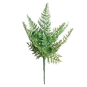 Silk Flower Arrangements JXHYKJ 3Pcs Artificial Fern Leaf Simulation Fern Plant Home Office Silk Cloth Fake Plant Greenery Decoration 34cm
