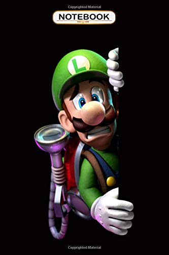 Notebook: Luigi's Mansion Dark Moon , Wide ruled 100 Pages Bank Lined Paperback Journal/ Composition Notebook/Book Gifts For Kids, boys, girls