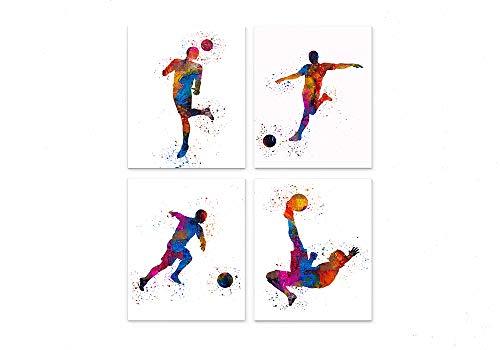 Soccer Player Abstract Sport Wall Art