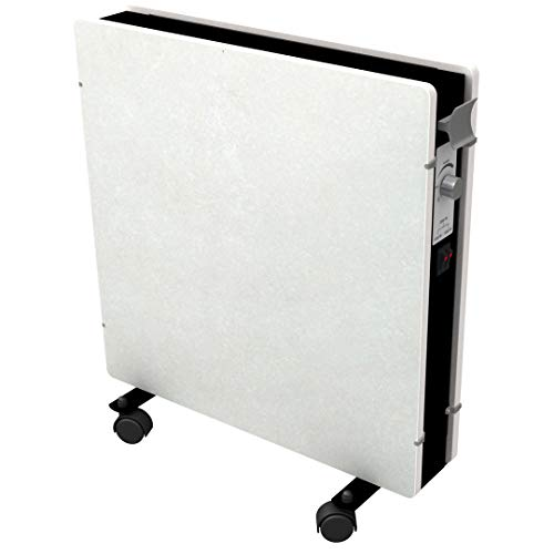 Mazda - Radiateur mobile - Radiateur à inertie en pierre mirida - Thermostat réglable 1000 et 2000w - sable blanc
