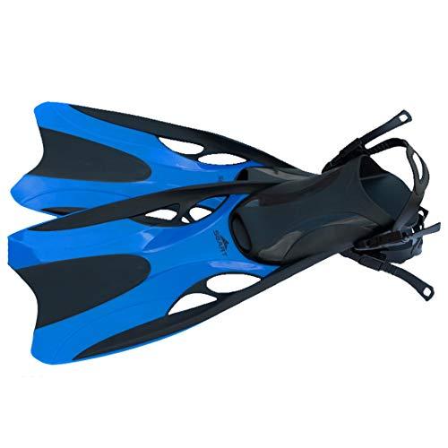 2019 Sommer Unisex Premium Flossen Self Adjusting zum Tauchen, Apnoe, Schnorcheln und Schwimmen,Herren Damen Strand Flossen für bequemes Schnorcheln Tauchen Schwimmen Taucherflossen Schwimmflossen