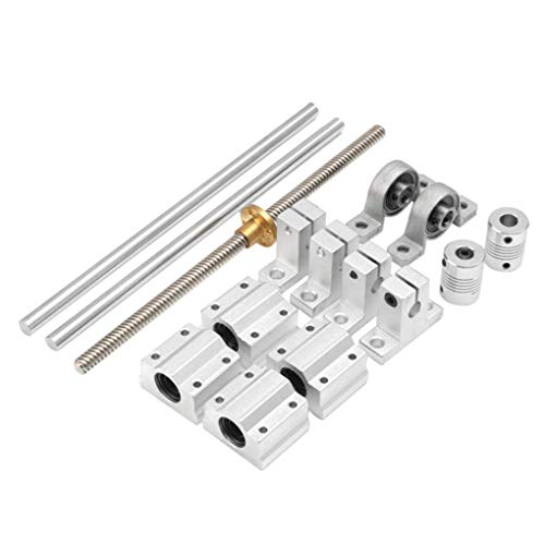 Kamenda 15 Pieces 400Mm Housing Bearing Optical Axis Guide Screw Shaft Support Linear Area