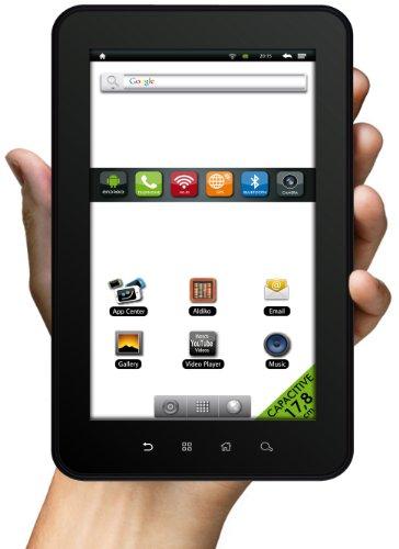 Odys Space 17,8 cm (7 Zoll) Tablet-PC (Touchscreen, 800MHz, 4GB Flash-Speicher, Telefonie, GPS, UMTS (3G), Wifi, Bluetooth, Android 2.3) schwarz