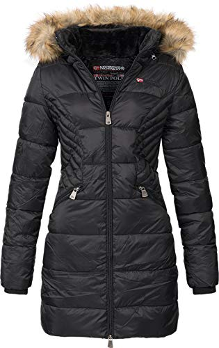 Geographical Norway Abby - Parka con capucha para mujer Negr
