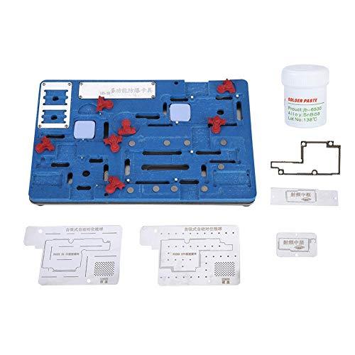 Herramienta de reparación de teléfonos móviles, 8 en 1 Soporte de Placa de Circuito PCB de reparación de Placa Base multipropósito para iPhone X/XS/XS MAX
