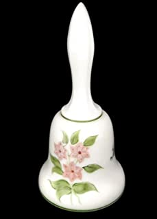 fenton glass bell hand painted