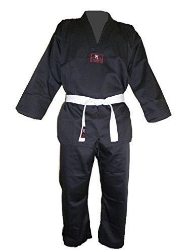 Budodrake Taekwondo Anzug Black/komplett schwarz (180)