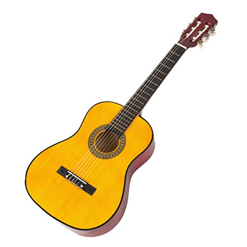 Music Alley Classical Guitar 6 String Junior, Right, Natural (MA34-N)