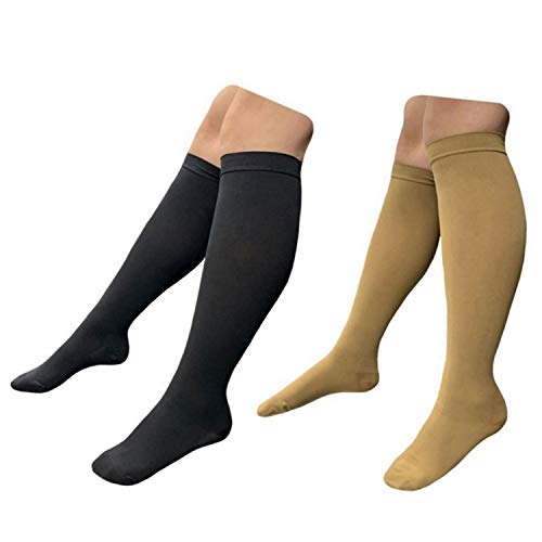 HealthyNees Closed Toe 30-40 mmHg Medical Compression Severe Swelling Firm Sock