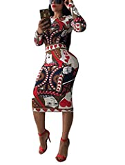 CLASSIC & VOGUE Bodycon pencil dress design with unique patterns makes the clubwear dresses for women stylish, fashionable and adorable. NICE FABRIC Polyester makes the wedding guest dress soft, stretchy and comfortable. Stylish Dresses The unique fl...