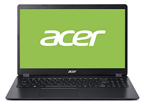 Acer Aspire 3 (A315-56-39K5) 39,62 cm (15,6 Zoll Full-HD matt) Multimedia Laptop (Intel Core i3-1005G1, 8 GB RAM, 512 GB PCIe SSD, Intel UHD, Win 10 Home) schwarz