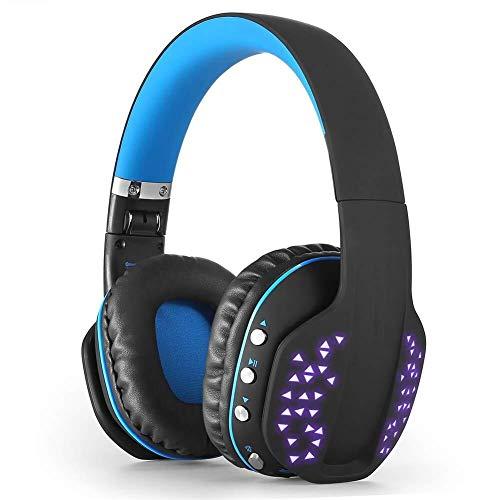 MGWA Auriculares Bluetooth Auricular For Juegos, Juegos Inalámbrico De Auriculares, con Función De Luz LED Plegable, Bajo Envolvente, con Micrófono, For PC/Mac / PS4 / Xbox One (Color : Red)