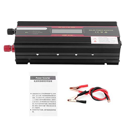 Inversor del coche, convertidor de energía de onda sinusoidal modificada auto de DC12V a AC220V 6000W con LCD
