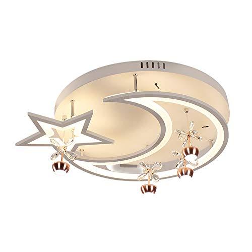 ZYT Lune Lustre pour Chambre d'enfant Impression en 3D Acrylique Plafonnier pour La Chambre des Enfants Ampoule LED 54W E27 52Cm Inclus Diamètre