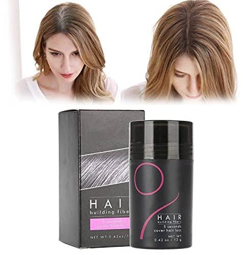 Renforcement des cheveux Fiber épaississant Poudre De Cheveux Volumisant Solution De Perte De Cheveux Correcteur Cheveux Pour Cheveux Amincissants(Marron foncé)