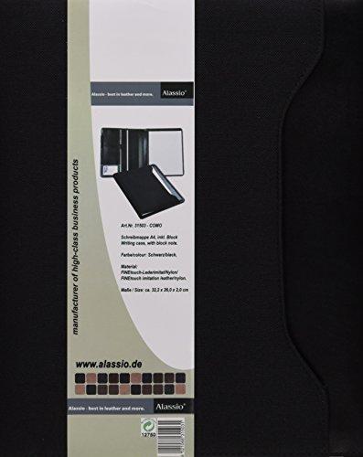 23 x 18 x 2 cm Mappe ca Dokumentenmappe in braun Alassio 30154 mit Taschenrechner Businessmappe aus Lederimitat Schreibmappe RIOMAGGIORE im DIN A5 Format