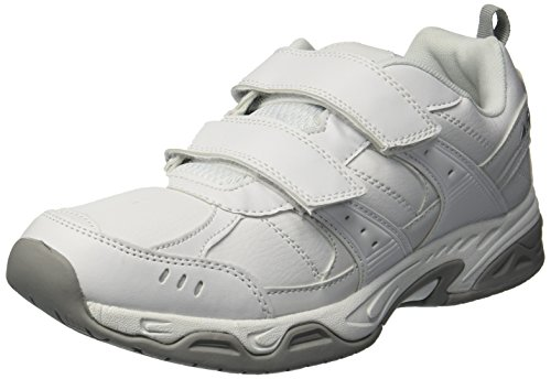 Avia Men's Avi-Union II Strap Food Service Shoe, White/Chrome Silver, 10.5 Medium US