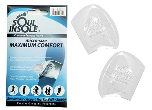 SOUL INSOLE Shoe Bubble Premium Orthotic Insole for Plantar Fasciitis, Pronation, Heel Pain, Morton's Neuroma (Transparent Original (Thicker Support), Medium)