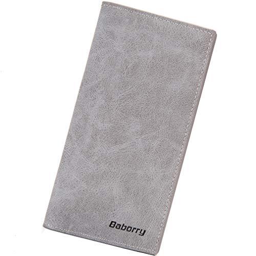 Brand Genuine Leather PU best long rfid men wallet men phone zipper wallet
