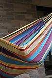 Vivere BRAZ220 Hängematte Doppel, Baumwolle, Tropisch, mehrfarbig - 8