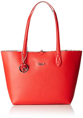 piero guidi Tote Bag + Busta Borsa Donna, (Rosso), 34,5x29,5x14 cm (W x H x L)