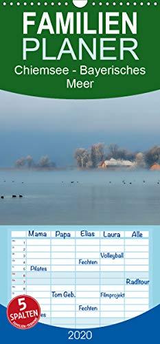 Chiemsee - Bayerisches Meer - Familienplaner hoch (Wandkalender 2020 , 21 cm x 45 cm, hoch): Malerischer See am Fuße der Alpen (Monatskalender, 14 Seiten ) (CALVENDO Orte)