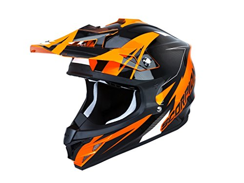 Scorpion Casco Moto Vx-15 Evo Air Krush, Arancio, S