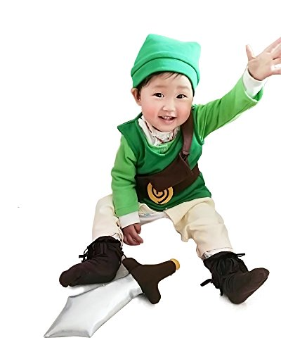 miccostumes Baby Link Cosplay Costume (Child Small) Green