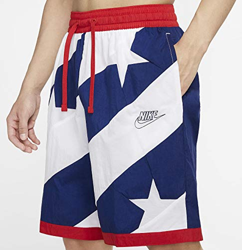 Nike Dri-Fit Throwback Herren Basketball Athletic Shorts American Flag Blue Void/White/University Red/Blue Void, X-Large