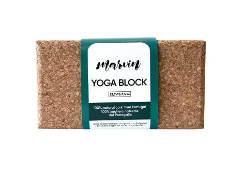 Marvin-Yoga Blocks in Sughero Naturale del Portogallo- Mattoncini Yoga Antiscivolo -Blocchi Yoga Ecologici