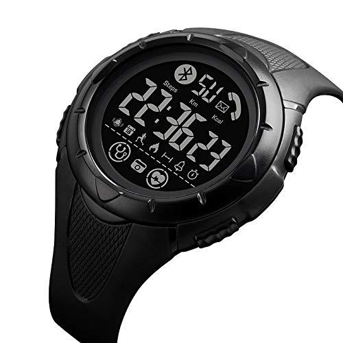 Hnxmkj Multifuncional al aire libre Estudiante Luz Smart Bluetooth Reloj Monitor de ritmo cardíaco Deportes Niños Reloj