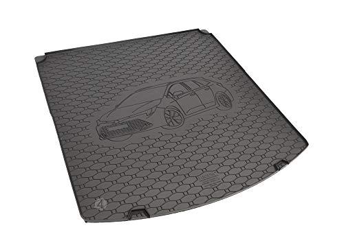 Passgenau Kofferraumwanne geeignet für Toyota Corolla Kombi ab 2019 ideal angepasst schwarz Kofferraummatte + Gurtschoner