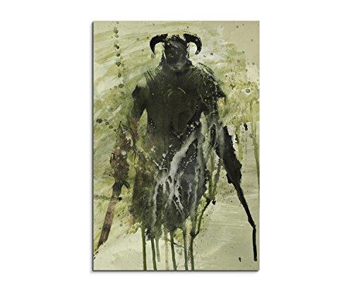 The Elder Scrolls V Skyrim 90x60cm Wandbild Aquarell Kunstbild Malerei Leinwandbild Fotoleinwand von Paul Sinus Art