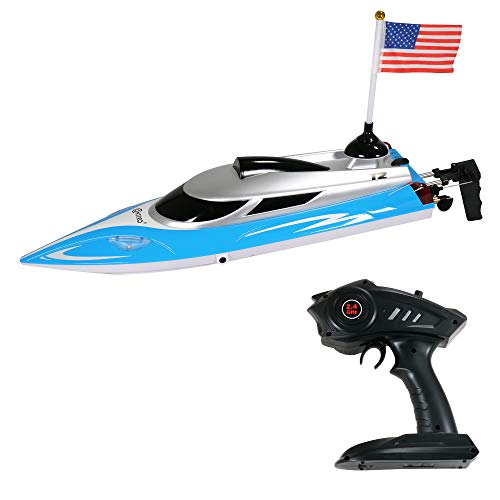 Contixo T2 RC Remote Control Racing Sport Boat Speedboat | Swimming Pool Toy Ship, Lakes, Rivers, Recreational Hobby Best Gift- Blue